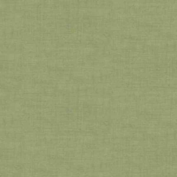 Makower Linen Texture Quilting Cotton Fabric - Sage Green // Holm Sown