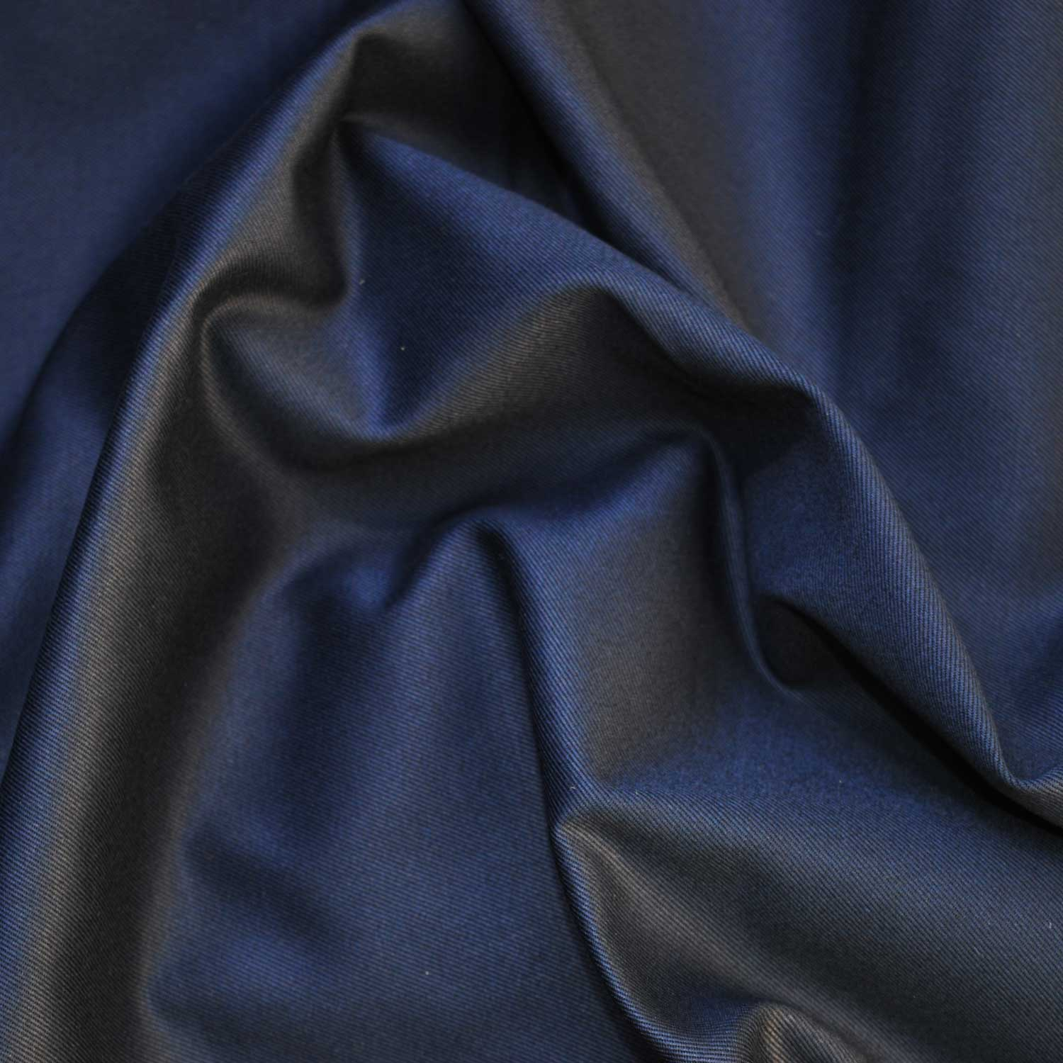 Holm Sown: Oxford Navy Cotton Twill Dressmaking Fabric