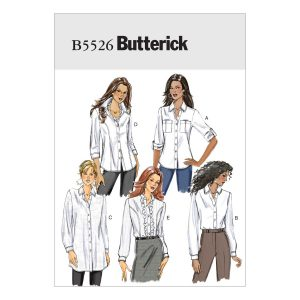 Holm Sown: Butterick B5526 Misses' Button-Down Collared Shirts | dressmaking sewing pattern