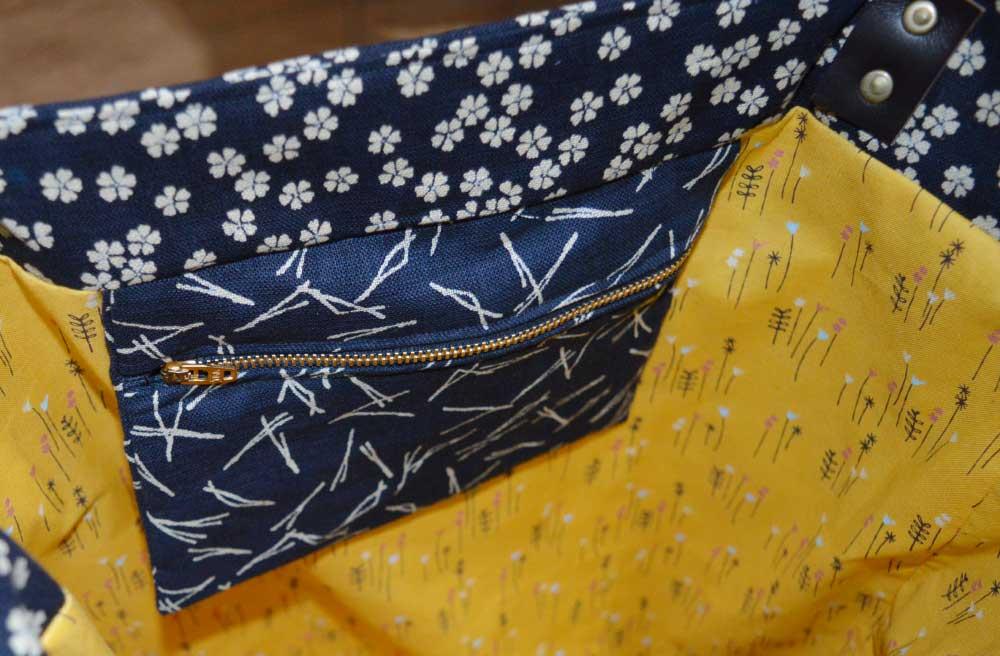 Sewn at Holm Sown - Genoa Tote Bag // sevenberry floral bag interior 1