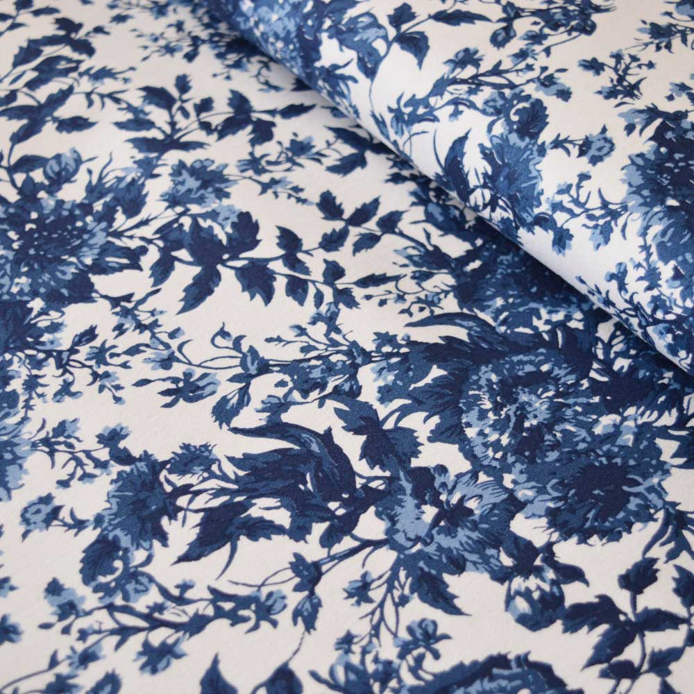 Floral Chintz Cotton Stretch Sateen | Dressmaking Fabric | Holm Sown