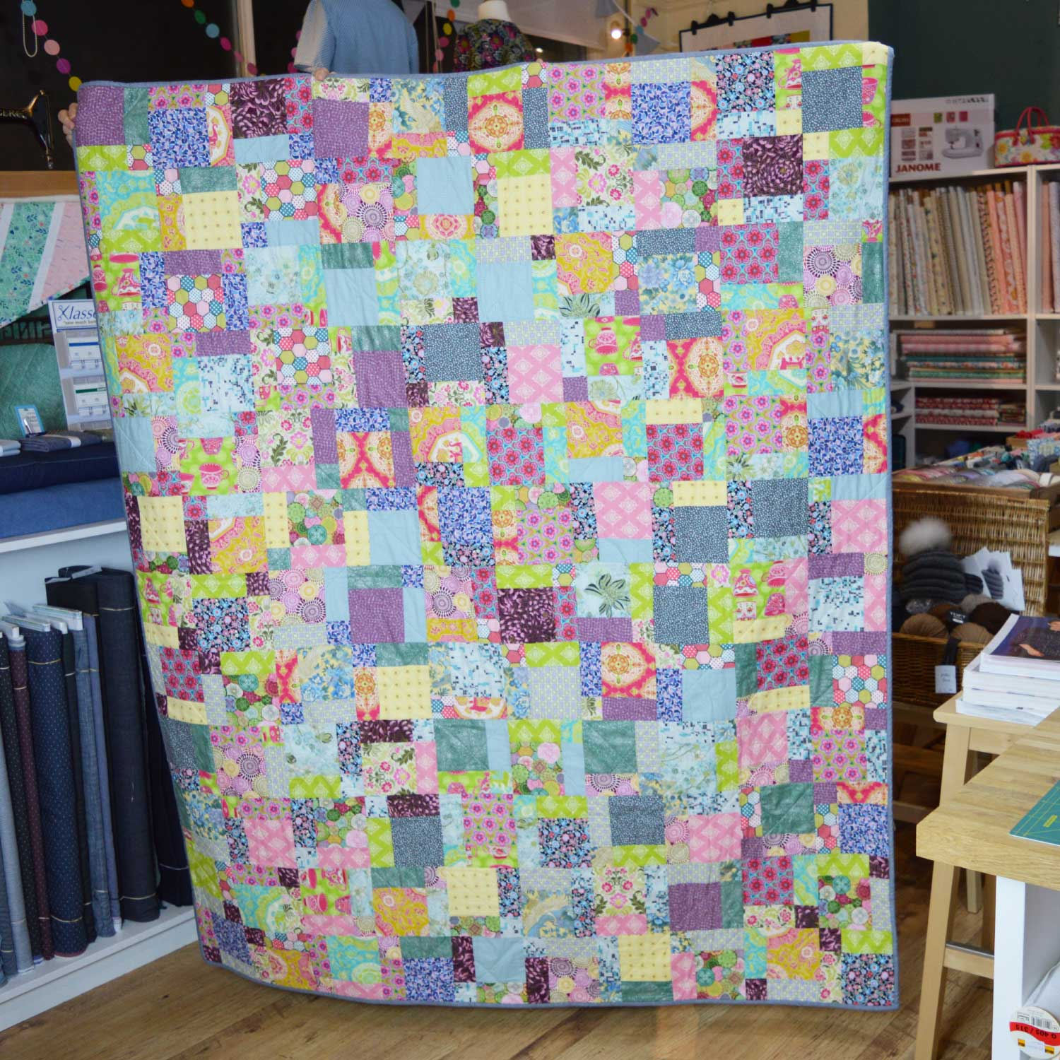Sewn at Holm Sown: Customer Nine Patch Quilt - scrap buster | Holm Sown
