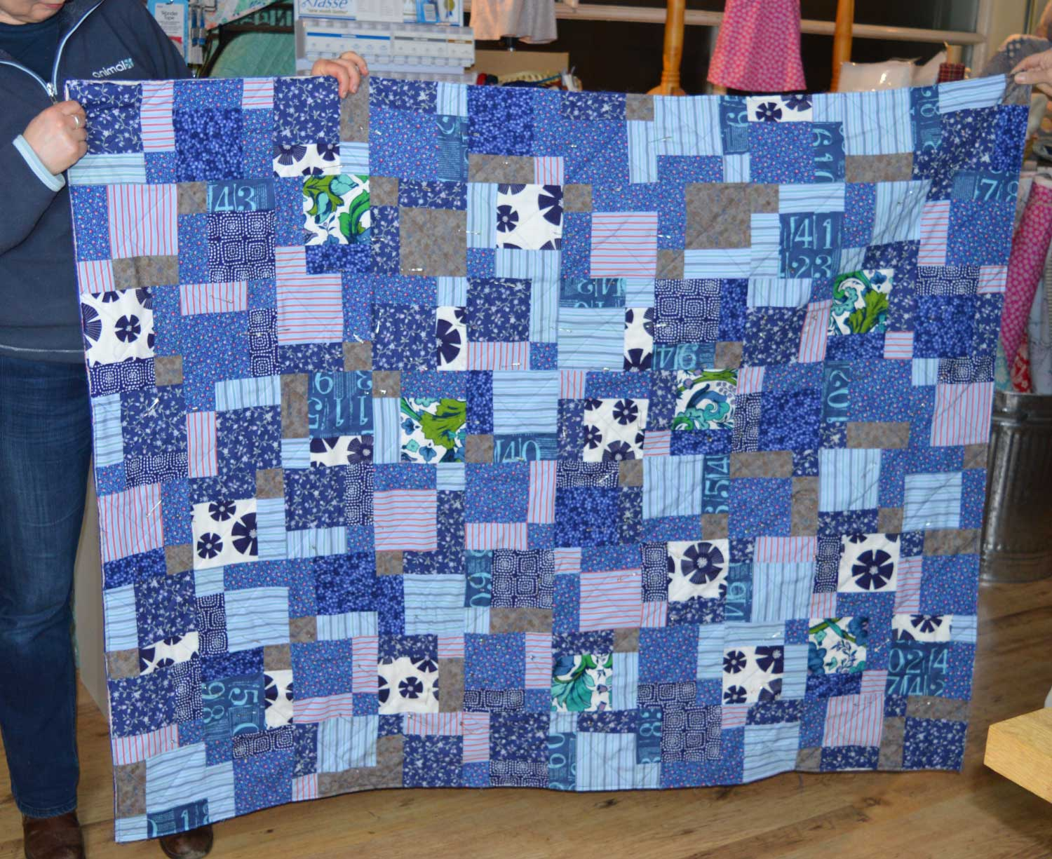 Sewn at Holm Sown: Customer Nine Patch Quilt - Memory Quilt | Holm Sown