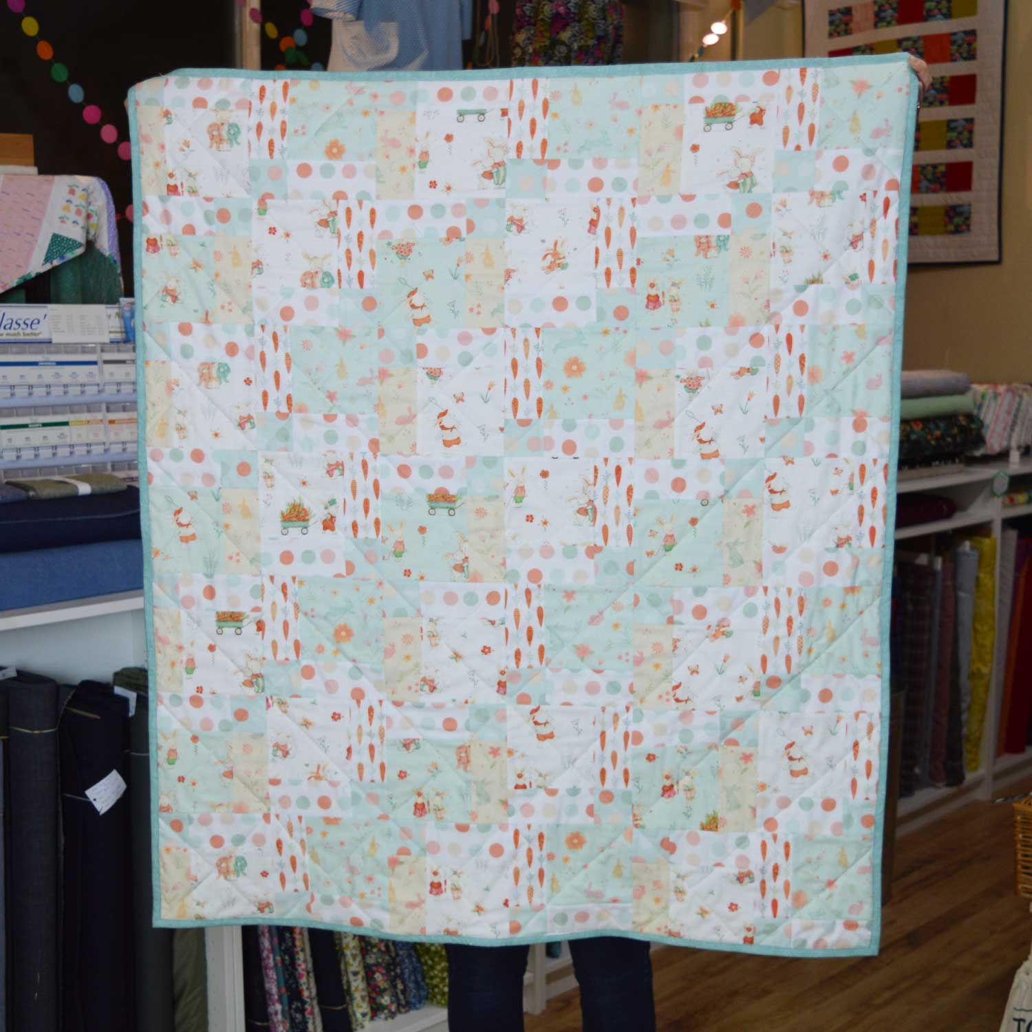 Sewn at Holm Sown: Customer Nine Patch Quilt - Bunny Tales | Holm Sown