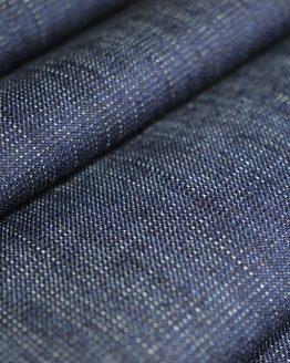 Holm Sown Online Fabric Shop - Denim - Sretch Barkweave Indigo - dressmaking fabric