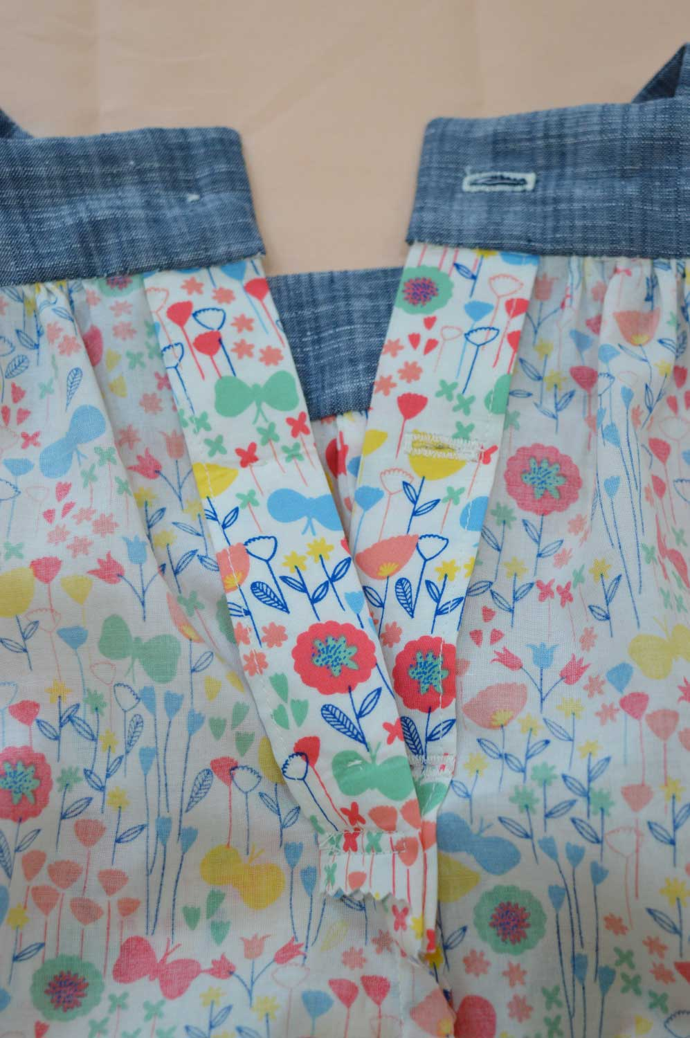 Holm Sown: Kwik Sew K3776 Baby Romper in London Calling Cotton Lawn - back button opening