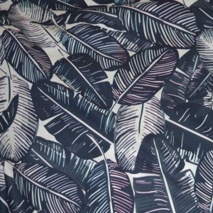 Lady McElroy Feather Print Marine Luxury Cotton Lawn | dressmaking fabric | Holm Sown