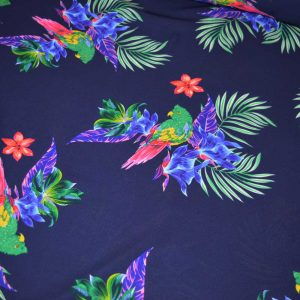 Lady McElroy Rainbow Lorikeet Crepe Georgette | dressmaking fabric | Holm Sown
