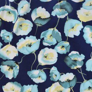 Poppy Crepe Georgette Blue | Dressmaking Fabric | Holm Sown