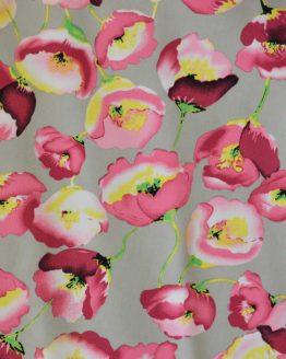 Poppy Crepe Georgette Pink | Dressmaking Fabric | Holm Sown