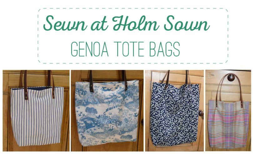 Sewn At Holm Sown - Genoa Tote Bags // sewing workshop