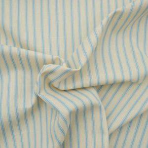 Stripe Cotton Canvas Ticking Fabric - Pale Blue | Holm Sown online fabric shop