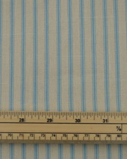 Stripe Cotton Canvas Ticking Fabric - Pale Blue | Holm Sown online fabric shop