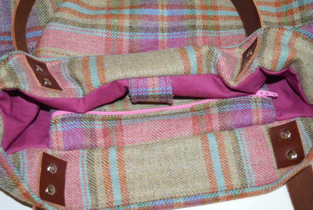 Sewn at Holm Sown - Genoa Tote Bag // tweedl bag interior 1