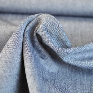 Yarn Dyed Cotton Chambray - dark blue // dressmaking fabric // Holm Sown online fabric shop