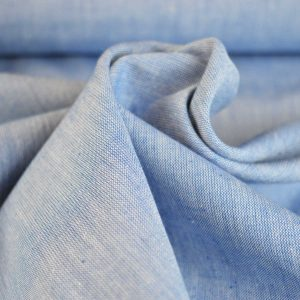 Yarn Dyed Cotton Chambray - pale blue // dressmaking fabric // Holm Sown online fabric shop