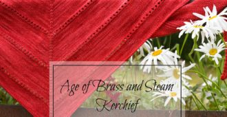 Holm Sown: The Age Of Brass And Steam Kerchief - Malabrigo Sock Yarn in Ravelry Red