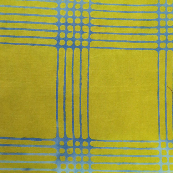 Holm Sown: Andover Fabric Alison Glass Chroma Handcrafted Batik - Citrus Plaid // cotton fabric