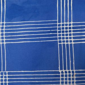 Holm Sown: Andover Fabric Alison Glass Chroma Handcrafted Batik - Cobalt Plaid // cotton fabric