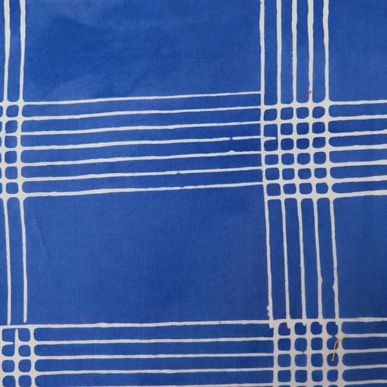 Holm Sown: Andover Fabric Alison Glass Chroma Handcrafted Batik - Cobalt Plaid // cotton fabric