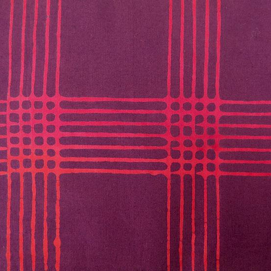 Holm Sown: Andover Fabric Alison Glass Chroma Handcrafted Batik - Eggplant Plaid // cotton fabric