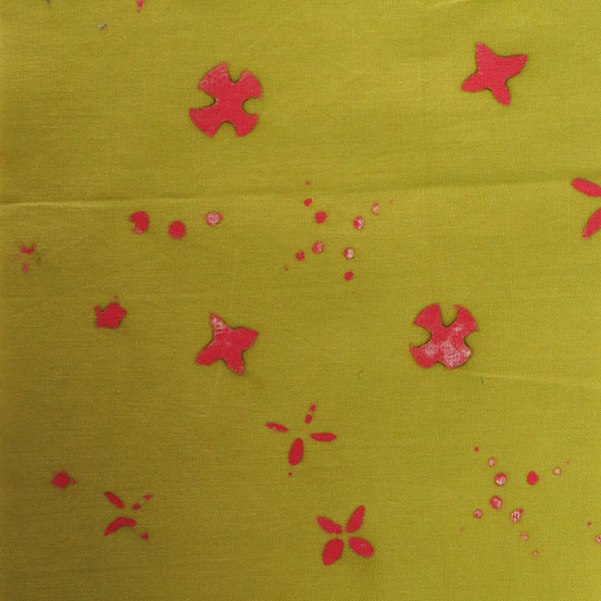 Holm Sown: Andover Fabric Alison Glass Chroma Handcrafted Batik - Moss Scatter // cotton fabric