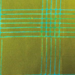 Holm Sown: Andover Fabric Alison Glass Chroma Handcrafted Batik - Olive Plaid // cotton fabric