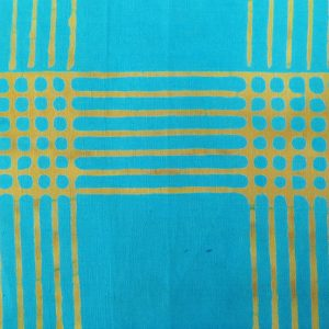 Holm Sown: Andover Fabric Alison Glass Chroma Handcrafted Batik - Turquoise Plaid // cotton fabric