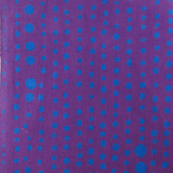 Holm Sown: Andover Fabric Alison Glass Chroma Handcrafted Batik - Violet Pinpoint // cotton fabric