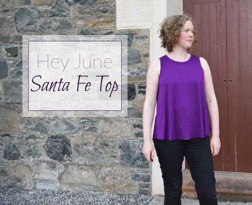 Holm Sown: Hey June Santa Fe Sleeveless Top in purple viscose jersey