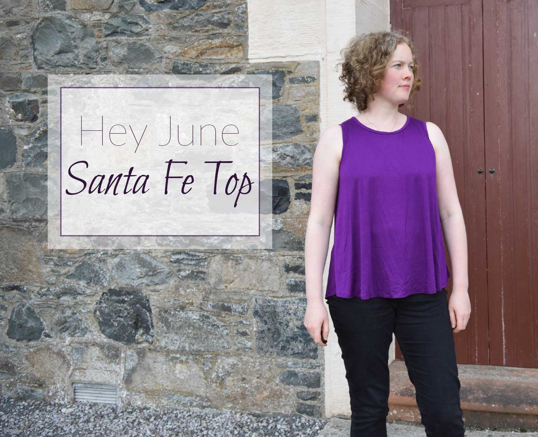 Holm Sown: Hey June Santa Fe Sleeveless Top in purple viscose jersey