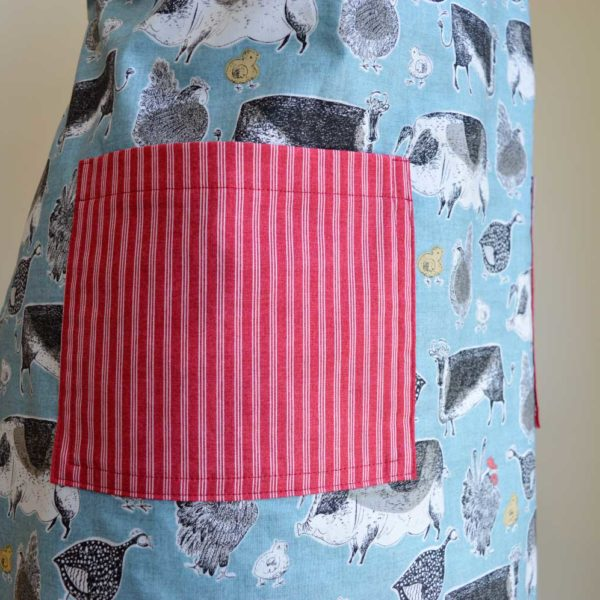 Sew an Apron sewing class // pocket detail // Holm Sown