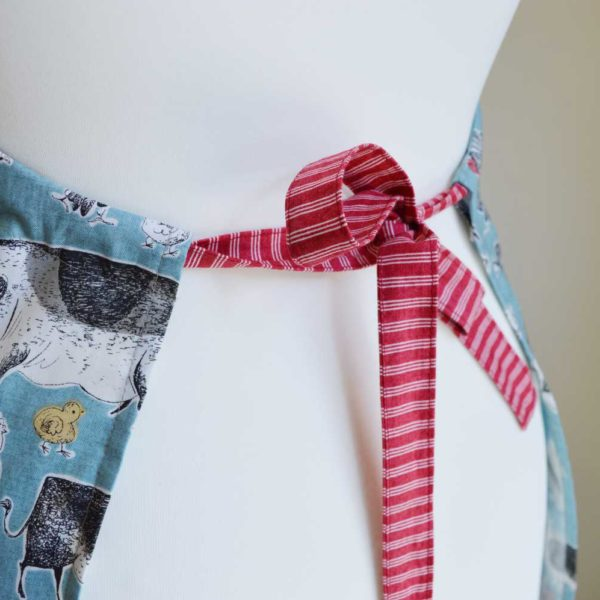 Sew an Apron sewing class // ties // Holm Sown