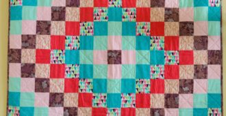 Holm Sown: One Scoop or Two? - A Trip Around The World Quilt // front