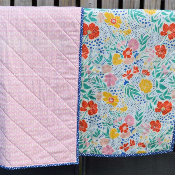 Whole Cloth Baby Quilt // patchwork & quilting sewing class // Holm Sown