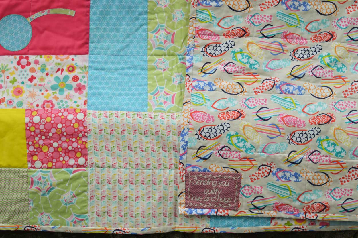 Quilts for Grenfell - Dumfries & Galloway Modern Quilt Guild (DGMQG) // Quilts on the railings