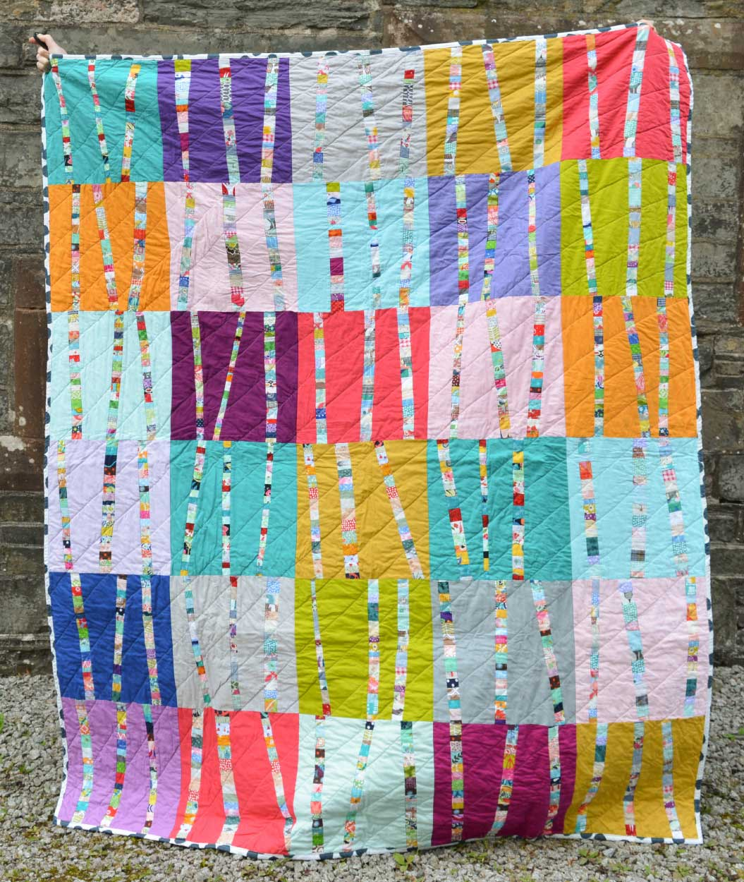 Quilts for Grenfell - Dumfries & Galloway Modern Quilt Guild (DGMQG) // Birch Blocks Quilt