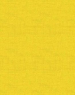 Makower Linen Texture Quilting Cotton Fabric - Aubergine Sunflower Yellow // Holm Sown