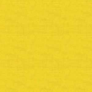 Makower Linen Texture Quilting Cotton Fabric - Aubergine Sunflower Yellow // Holm Sown