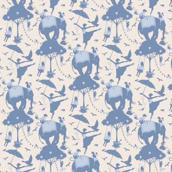 Tilda Circus – Circus Life Blue 100% cotton quilting fabric | Holm Sown