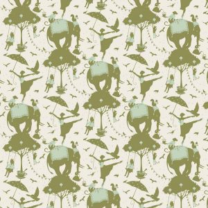 Tilda Circus – Circus Life Green 100% cotton quilting fabric | Holm Sown