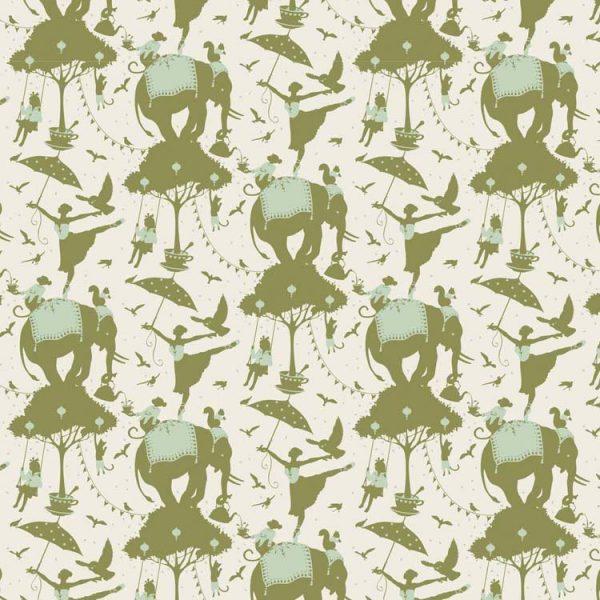 Tilda Circus – Circus Life Green 100% cotton quilting fabric | Holm Sown