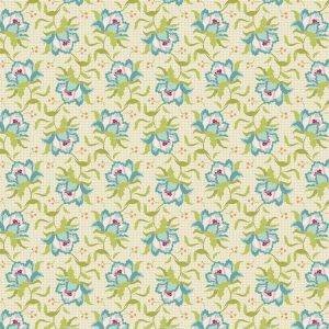 Tilda Circus – Clown Flower Green 100% cotton quilting fabric | Holm Sown