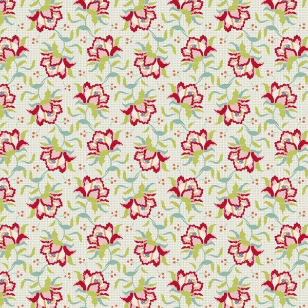 Tilda Circus – Clown Flower Linen 100% cotton quilting fabric | Holm Sown
