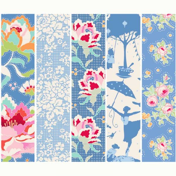 Tilda Circus Collection Blue 100% cotton quilting fabric | Holm Sown