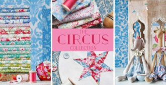 Tilda Circus Collection 100% cotton quilting fabric - Holm Sown