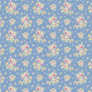 Tilda Circus – First Kiss Blue 100% cotton quilting fabric | Holm Sown