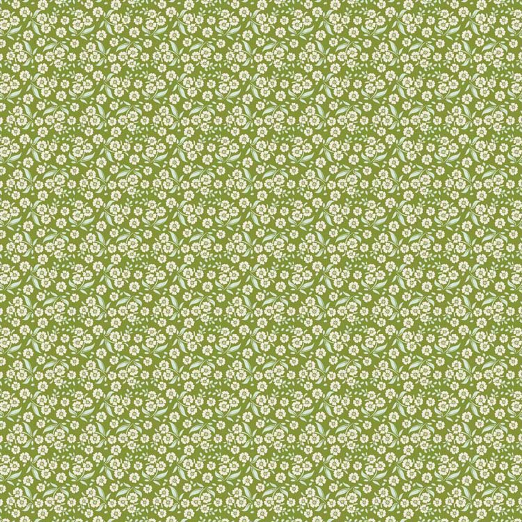 Tilda Circus – Forget Me Not Green 100% cotton quilting fabric | Holm Sown