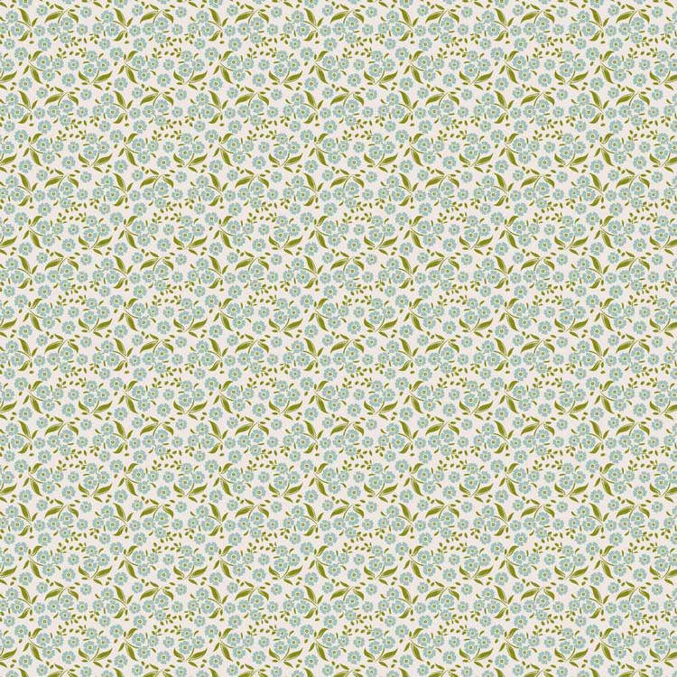 Tilda Circus – Forget Me Not Teal 100% cotton quilting fabric | Holm Sown