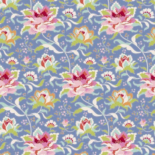Tilda Circus – Circus Rose Blue 100% cotton quilting fabric | Holm Sown